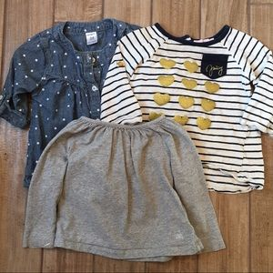 Lot of 3 shirts 18-24 months carters juicy gap